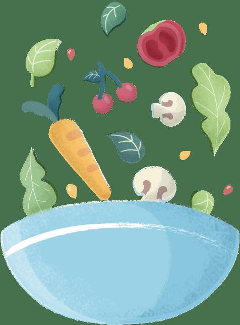 Evening meal ingredients