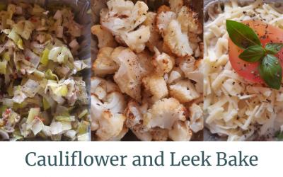 Cauliflower and Leek Bake